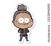 distressed sticker of a cartoon ... | Shutterstock .eps vector #1322894000