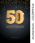 anniversary 50. gold 3d numbers.... | Shutterstock .eps vector #1322899316