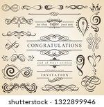 set of vintage decorations... | Shutterstock .eps vector #1322899946