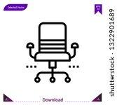desk chair icon vector . best...