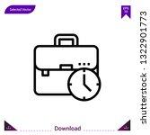 briefcase icon vector . best...