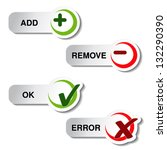 vector add remove and ok error... | Shutterstock .eps vector #132290390