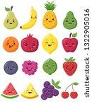 big set of cute kawaii fruits...   Shutterstock .eps vector #1322905016