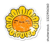 distressed sticker of a quirky... | Shutterstock .eps vector #1322906360