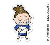 distressed sticker of a cartoon ... | Shutterstock .eps vector #1322906363