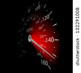 illustration of the speedometer ... | Shutterstock . vector #132291008