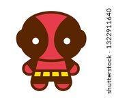 vector cartoon cute comic... | Shutterstock .eps vector #1322911640