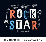 rock star vector slogan graphic ... | Shutterstock .eps vector #1322911646