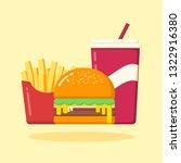 burger set vector illustration. ... | Shutterstock .eps vector #1322916380