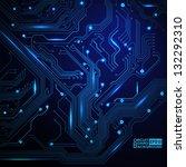technological vector background ... | Shutterstock .eps vector #132292310