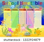 school timetable with marine... | Shutterstock .eps vector #1322924879