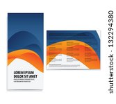 tri fold business brochure... | Shutterstock .eps vector #132294380
