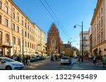 krakow  cracow  is city in... | Shutterstock . vector #1322945489