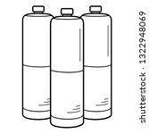 compressed gas cylinders.... | Shutterstock .eps vector #1322948069