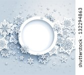 abstract winter design with... | Shutterstock . vector #132294863