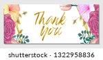 vector wedding invitation or...   Shutterstock .eps vector #1322958836