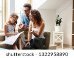 father and mother teach... | Shutterstock . vector #1322958890