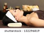 beautiful young woman in spa... | Shutterstock . vector #132296819