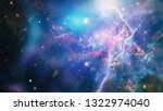 the explosion supernova. bright ... | Shutterstock . vector #1322974040