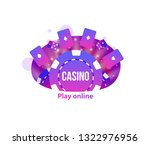 casino icons chips roullet... | Shutterstock .eps vector #1322976956