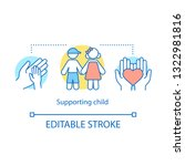 supporting child concept icon.... | Shutterstock .eps vector #1322981816