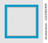 blue square isolated on... | Shutterstock .eps vector #1322981909