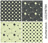 set of seamless patterns with... | Shutterstock .eps vector #132298784