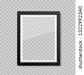 realistic blank glass picture...   Shutterstock .eps vector #1322992340