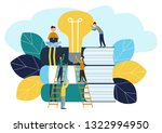 illustration  teamwork ... | Shutterstock . vector #1322994950