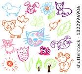 cute children's drawing....   Shutterstock .eps vector #1322996906