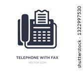 telephone with fax icon on... | Shutterstock .eps vector #1322997530
