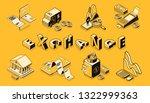 stock and money exchange line...   Shutterstock .eps vector #1322999363