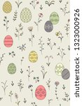 color easter eggs and spring...   Shutterstock .eps vector #1323000926