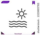 sun icon vector . best modern ...