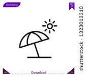 sun umbrella icon vector . best ...