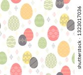 color easter eggs with ethnic... | Shutterstock .eps vector #1323017036