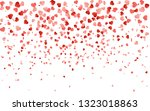 red pattern of random falling... | Shutterstock . vector #1323018863