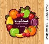 fruit | Shutterstock .eps vector #132301940