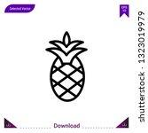 pineapple  icon vector . best...