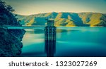 water control tower in a water...   Shutterstock . vector #1323027269