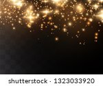 the dust sparks and golden... | Shutterstock .eps vector #1323033920