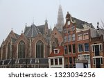 the old church with the tower... | Shutterstock . vector #1323034256