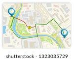 city map navigation banner ...   Shutterstock .eps vector #1323035729
