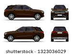 realistic suv car. front view ... | Shutterstock .eps vector #1323036029