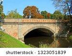 bridge over channel in the city ... | Shutterstock . vector #1323051839