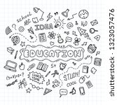 education concept. hand drawn... | Shutterstock .eps vector #1323057476