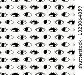 seamless pattern with hand evil ... | Shutterstock .eps vector #1323064859