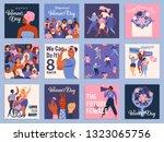 international women's day set.... | Shutterstock .eps vector #1323065756