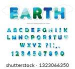 earth landscape modern font.... | Shutterstock .eps vector #1323066350