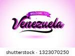 venezuela welcome to creative... | Shutterstock .eps vector #1323070250